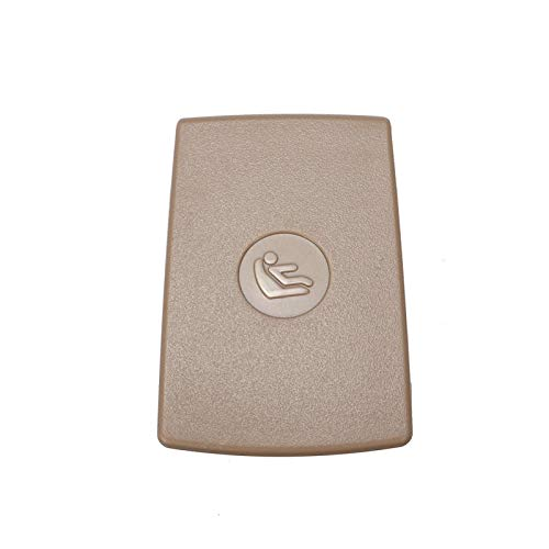 RJJX 1x Universal-Auto hinten Kindersitz Anker Sicherheits ISOFix Abdeckung Trim Kinder Restraint Fit for BMW F30 F31 3er F20 F21 F22 F80 F34 M3 (Color Name : Beige)