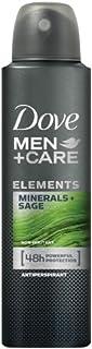Dove Men+Care Antiperspirant Deodorant, Mineral + Sage, 150ml