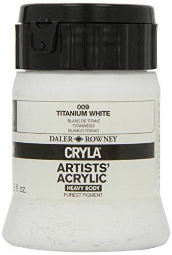 Daler-Rowney Pot de peinture acrylique Cryla Blanc titane 250 ml