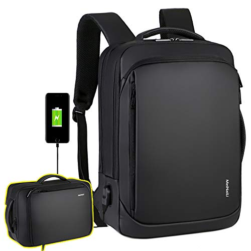 Laptop Backpack Casual Daypacks 15.6' Briefcase Convertible Water Resistant Business Travel Rucksack with USB Charging Port Office College School Notebook Computer Laptop Bag Work Backpack Teens Men