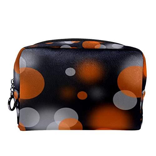 Reise-Make-up-Tasche, Kosmetiktasche, Make-up-Tasche, Organizer für Frauen und Mädchen, goldener Totenschädel