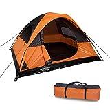Tienda de campaña de calidad moderna (244 x 213 cm) para 2 o 3 personas – tienda ligera e impermeable como equipo de camping ideal.