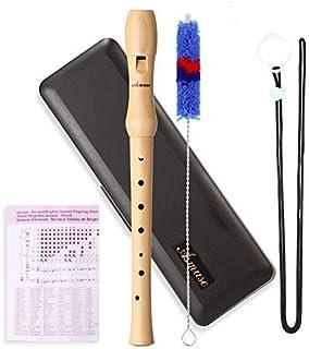 Asmuse 8-Hole Soprano Recorder Instrumento de digitación de estilo alemán de tecla C