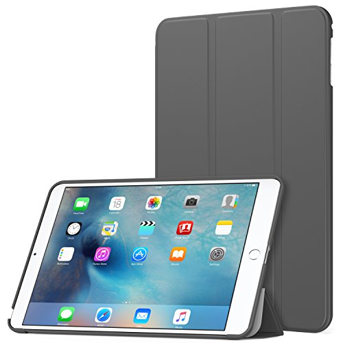 MoKo Case Fit iPad Mini 4 - Slim Lightweight Smart Shell Stand Cover Case with Auto Wake/Sleep Fit Apple iPad Mini 4 (2015 Edition) 7.9 inch iOS Tablet, Gray