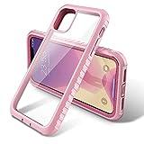 ULAK Coque iPhone 11, Transparente Mince Ultra Hybride Bumper en TPU Souple + PC Dur Protection Intégrale Antichoc et Anti-Rayures Case pour 2019 iPhone 11 [6.1 Pouces], Or Rose + Vin Rouge