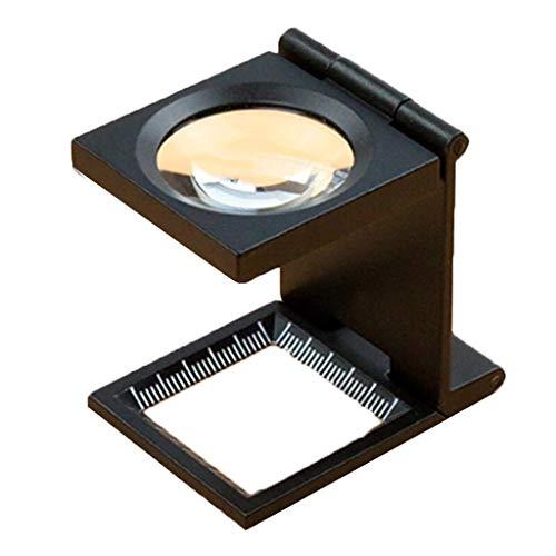 Lupe Lupe-10-voudig inklapbare desktop-fotodoek meet-tafelhouder verlichting led-verlichting met weegschaal sieraden identificatie elektronisch onderhoud loep persoonlijk multipurpose vergrootglas