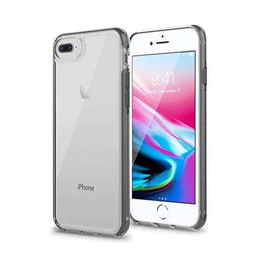 Artifit Handyhülle für iPhone 6 Plus, iPhone 6S Plus, iPhone 7 Plus, iPhone 8 Plus, Silikon Transparent Hülle mit Stoßfest Bumper, Ultra Hybrid Schutzhülle aus TPU TPE PC, spacegrau [5,5 Zoll]