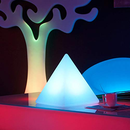 LIVEDECO - Pirámide luminosa con LED multicolor, 28 cm
