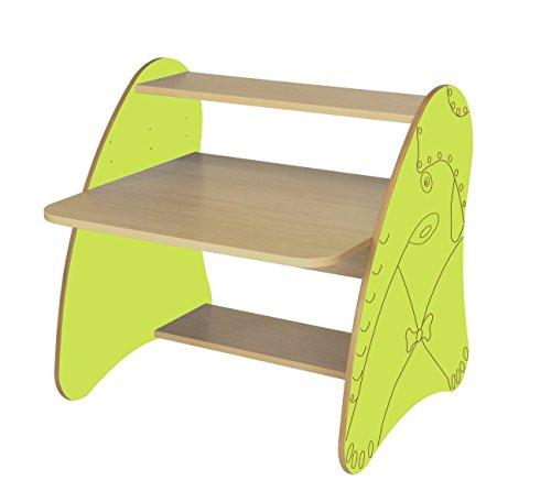 Mobeduc 600912HR13 Table Ordinateur pour Enfants/Enfants Bois Hêtre Vert Pomme 80 x 80 x 75 cm