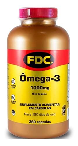 Omega 3 FDC Vitamins 360 Caps 1000 Mg Fish Oil Importado 360