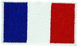 Broderad lapp, flagga Frankrike för påstrykning, ryggsäck