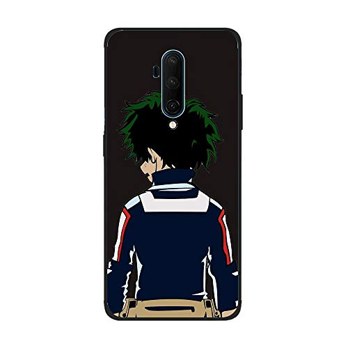QNNN Black TPU Liquid Silicone Coque Shockproof Gel Rubber Case for OnePlus 7T Pro-My Hero-Academia Boku-Deku 2