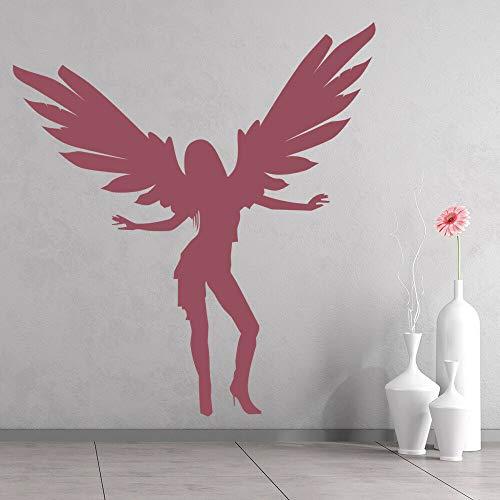 Dibujos animados de baile representa amor tatuajes de pared alas de mujer murales de arte puertas ventanas pegatinas de vinilo niñas sala de baile dormitorio decoración del hogar