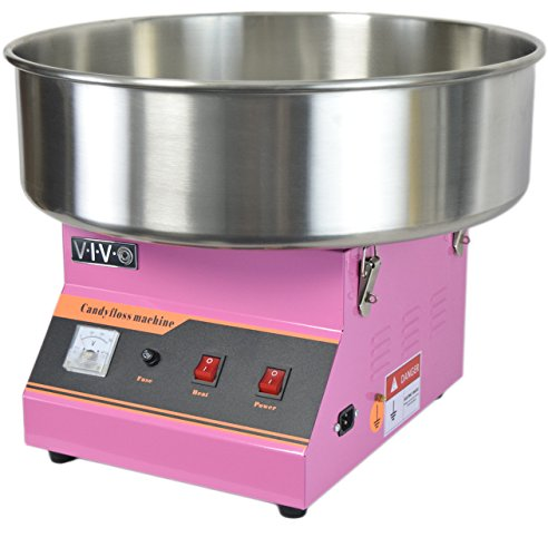 VIVO Pink Electric Commercial Cotton Candy Machine, Candy Floss Maker CANDY-V001
