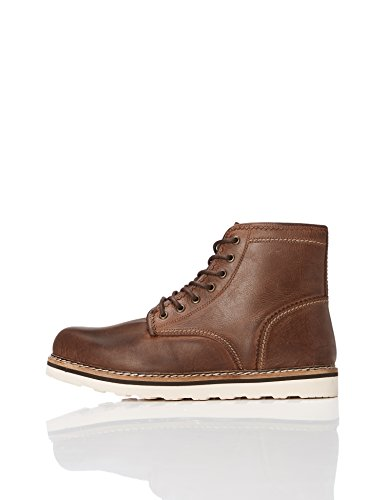 find. Stivaletti Stringati in Pelle Uomo, Marrone (Dark Brown), 40 EU