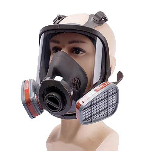 ZDSKSH Máscara de Gas Facial Completa, Máscara antigas para el Campo de Realidad Militar, Pintura de pulverización Trabajo Seguro, con Filtros
