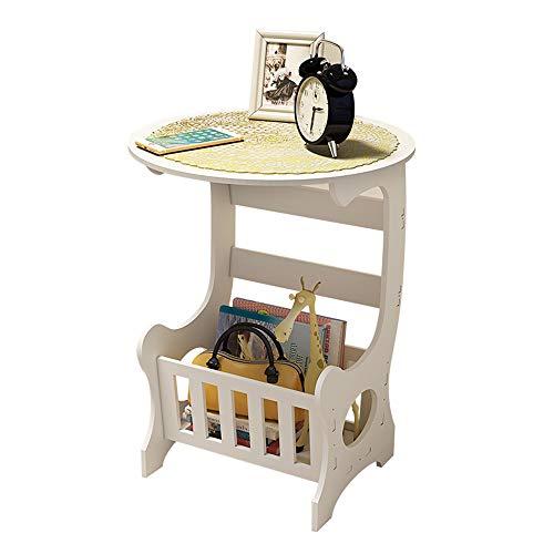 Tables FEI - Bureau d'ordinateur d'extrémité latérale de à thé Ronde de café avec des Meubles de Salon de Support de Stockage pour Tous Les postes de Travail (Taille : 33 * 30 * 60cm)