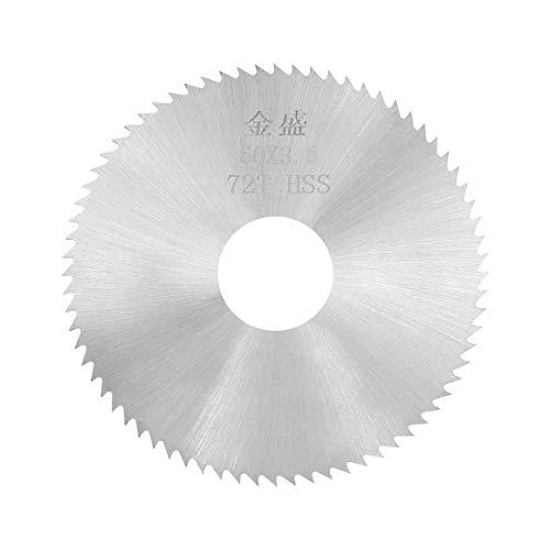 Mini hojas de sierra circular 60 x 16 x 3,5 mm, 72 dientes, hoja de corte de disco HSS para madera metálica