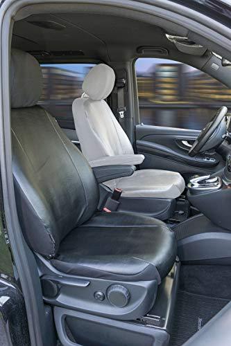 Walser Mercedes-Benz V-Klasse 447 Passform Sitzbezüge für Einzelsitz Beifahrer mit Armlehne innen aus Kunstleder ab BJ 06/2014 - Heute
