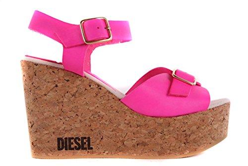 Diesel Damen Sandalen Plateau Wedge Pumps Pink #44 (41)