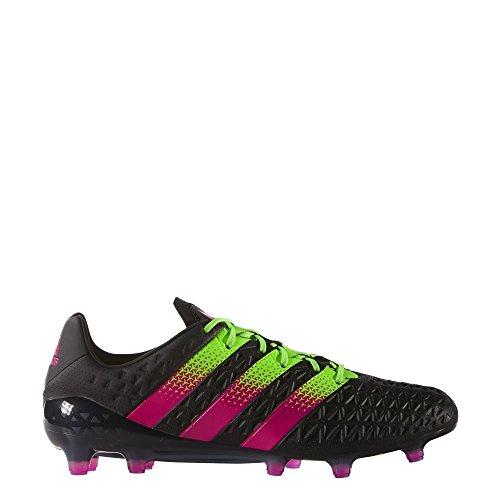 adidas Herren Fussballschuhe ACE 16.1 FG/AG CBLACK/SGREEN/SHOPIN 41 1/3