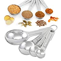 bolana cucchiai dosatori, 4 pezzi cucchiai dosatori set in acciaio, measuring spoons cucina per cucinare misurando liquidi solidi