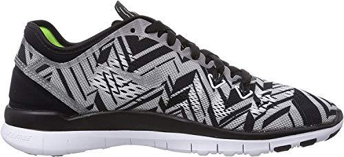 Nike Free TR 5 Print Unisex-Erwachsene Hallenschuhe, Mehrfarbig (Black/Metallic Silver/White/Volt), 35.5