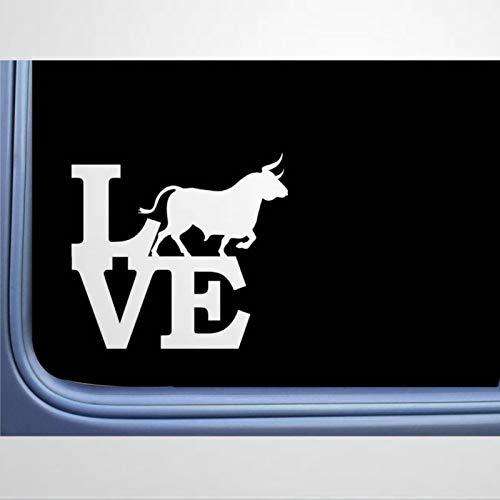 Pegatina de vinilo para ventana, diseño de toro español, para coche, diseño de ganado