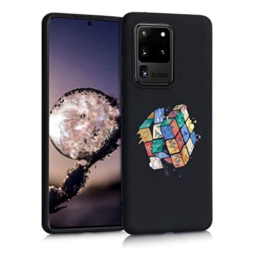 ZhuoFan Funda para Samsung Galaxy M31s 4G, Cárcasa Negra Silicona Antigolpes Ultrafina con Dibujos Diseño Suave TPU de Protector Piel Cover Fundas Movil para Samsung M31s 6,5', Cubo de Rubik