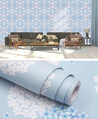 xiaoshun Selbstklebende Tapete, selbstklebend, Schlafzimmer, wasserdicht, für Wohnheim, Wohnzimmer, 3D-Stereo-Wandaufkleber, 10 m, einfarbig, 0,6 x 10 m, Ballonblau