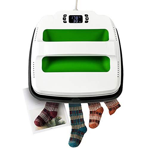 O BOSSTOP Heat Press Machine Portable 9 X 9 inches Sublimation T Shirt Press Printing Machine Iron on Machine Professional Digital Transfer Teflon Sheet Silicone Mat Included
