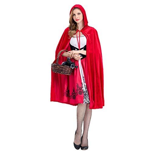 Disfraz de Caperucita Roja para Halloween, disfraz de bruja de vampiro, vintage, vestido con castillo de cuentos de hadas, reina para adultos, punk, gtico, medieval, carnaval, escenario, camuflaje.