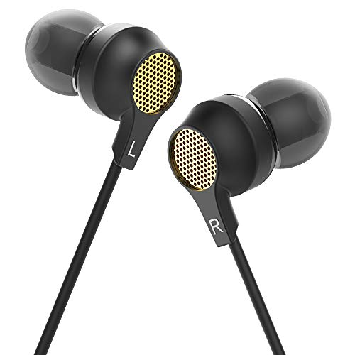 HIFI WALKER Mini Auriculares Intraaurales con Microfono, Auriculares con Cable, Ajuste Súper Cómodo, Negro-G
