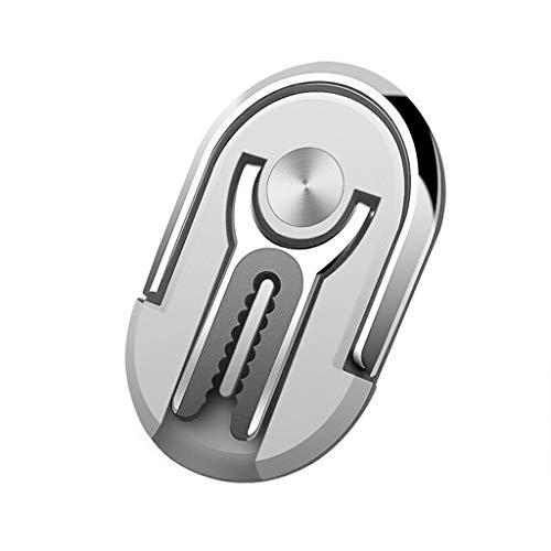 99AMZ Handyhalter fürs Auto & Handy Ring Halter | 2 in 1 Innovative Design | Multifunktion Autohalterung Lüftung Lüftungsschlitz Belüftung KFZ Phone Halterung Handy Halter für Smartphones (Silber)