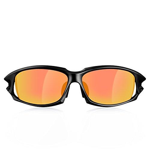 Hulislem Blade Sport Polarized Sunglasses, Revo Red - Matteblack