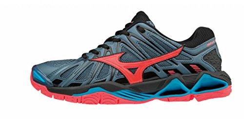 Mizuno Damen Wave Tornado X2 Sneakers, Mehrfarbig (Bluemirage/Fcoral/Blk 001), 37 EU