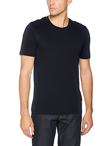 SELECTED HOMME Shdtheperfect SS O-Neck Tee Noos T-Shirt, Blu (Dark Sapphire), X-Large Uomo
