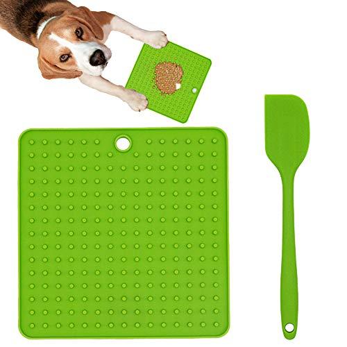 Ley's Dog Lick Pad Hundetraining Langsame Leckerli-Dosierung, Silikon-Leckmatte für Hunde, für Futter oder Leckerlis, für langsames Füttern, grün