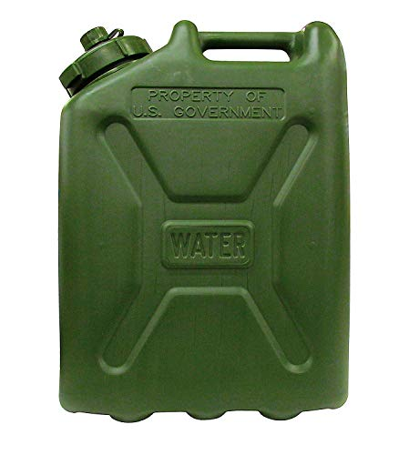 LCI Plastic Water CAN 5 Gallon (Green Can), 7240-01-365-5317