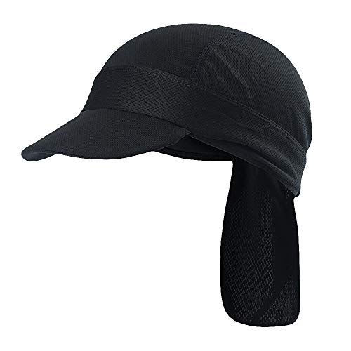 Maoko Skull Caps & Sweat Wicking Cooling Beanie with Brim for Men and Women Black