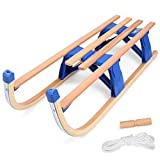 Odoland 43 inches Snow Sled Sleigh Foldable, Durable and...