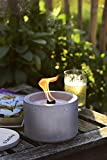 Beske-Betonfeuer mit 'Dauerdocht' | Durchmesser 14cm 'gerade' | Wiederbefüllbare Gartenfackel | 'Unendliche' Brenndauer durch Kerzenwachs-Recycling | Tischfeuer Fackel Kerze Outdoor