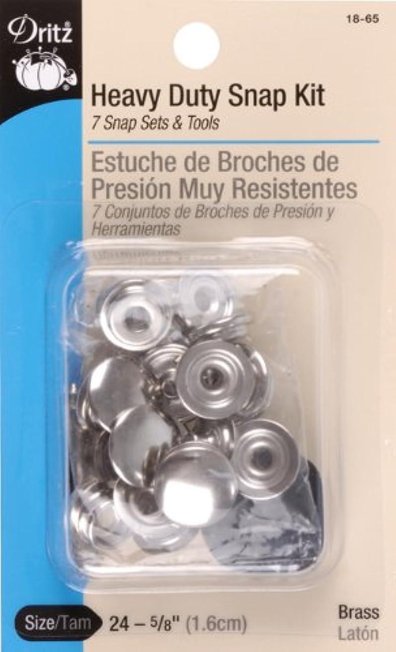 Dritz 18-65 Heavy Duty Snap Fastener Kit, Size 24 (5/8-Inch), Nickel-Plated Brass, 7 Sets
