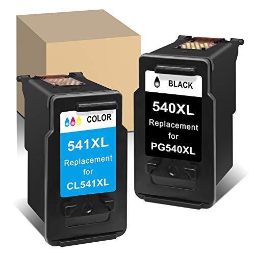 ATOPolyjet PG 540 CL 541 Remanufactured Druckerpatronen für PG-540XL CL-541XL Tintenpatronen für Canon Pixma MG2250s TS5150 TS5151 MG3650 MG3600 MG3200 MG3500 TS5150 MG3550 MX535 (Black, Tri-Colour)