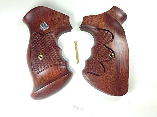 handicraftgrips New Smith & Wesson K/l K L Frame Square Butt Revolver Grips Open Back Hardwood Wood Checkered Openback Handmade Beautiful Sport for Men Birthday Gift #Ksw38