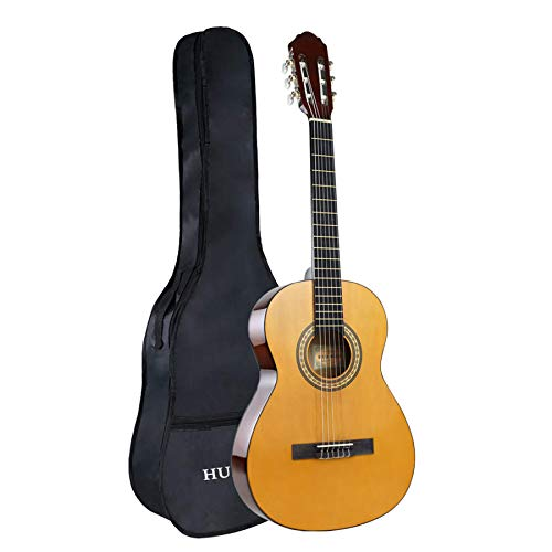 HUAWIND Classical Guitar Full Size 39 Inch Acoustic Guitar Nylon Strings Guitar For Beginners Adults With Bag
