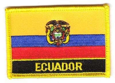 Flaggen Aufnäher Patch Ecuador Schrift Fahne NEU