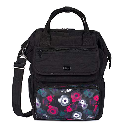 Lug Women's Via Convertible Tote Backpack, Midnight Floral Watercolour, One Size