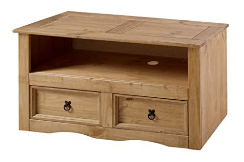 Sit Möbel Lowboard, Mexico, Pinie massiv gebeizt, Lackiert, Gewachst, antikfinish, Fachmaß 91x39x21,5 cm