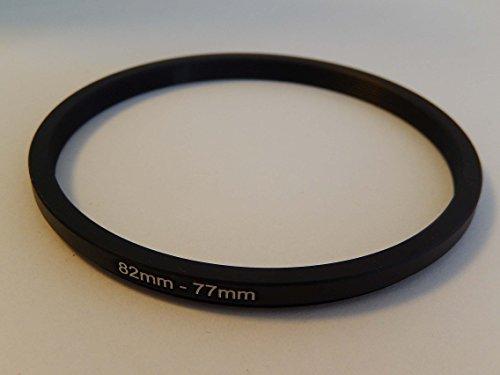 vhbw Step Down Adapter Ring Filteradapter 82mm-77mm schwarz passend für Kamera Agfa, Agfaphoto, Canon, Casio, Fujifilm, Kodak, Minolta, Nikon, Olympus